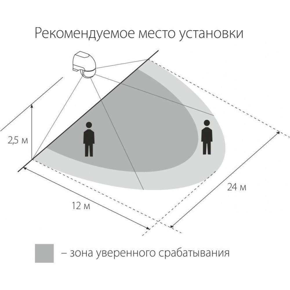 Работа датчика движения (схема)