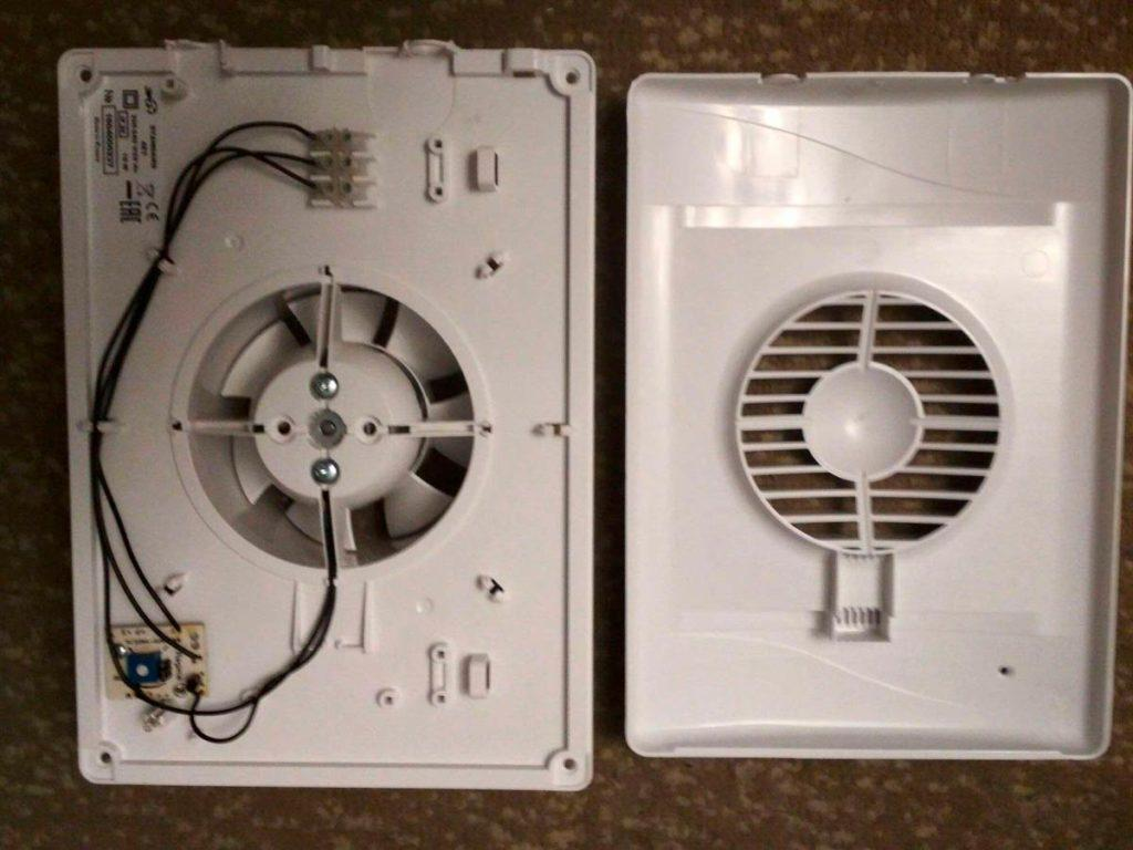 Вентилятор вытяжной, провода