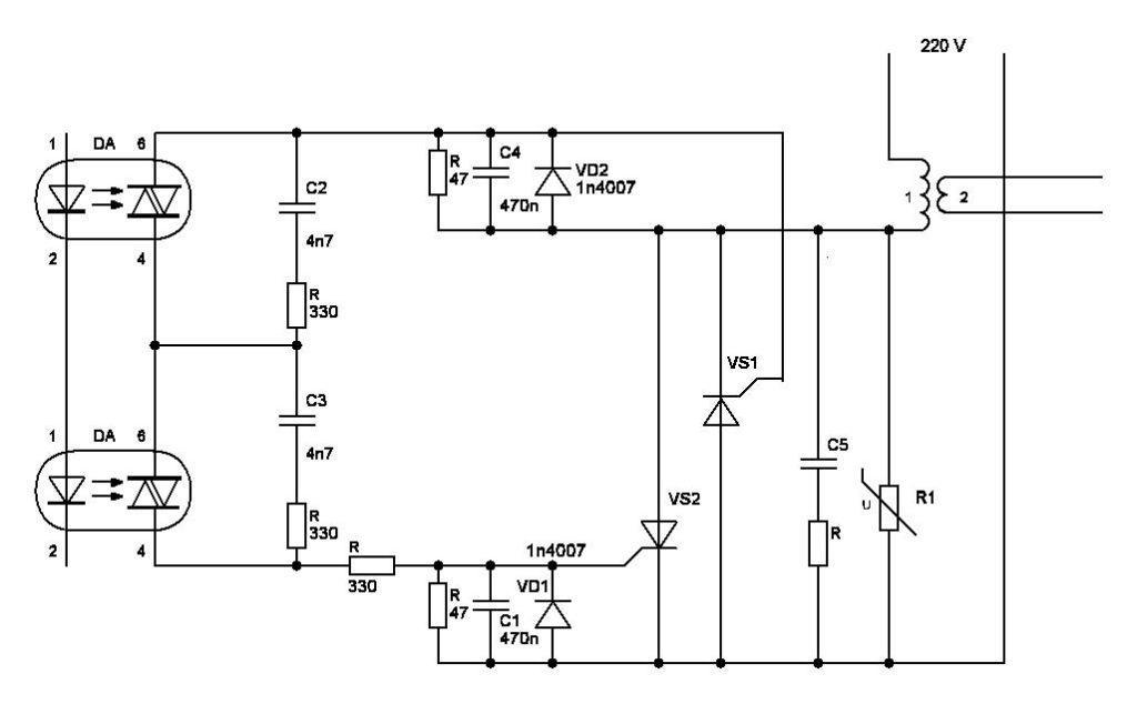 Схема контроллера споттера