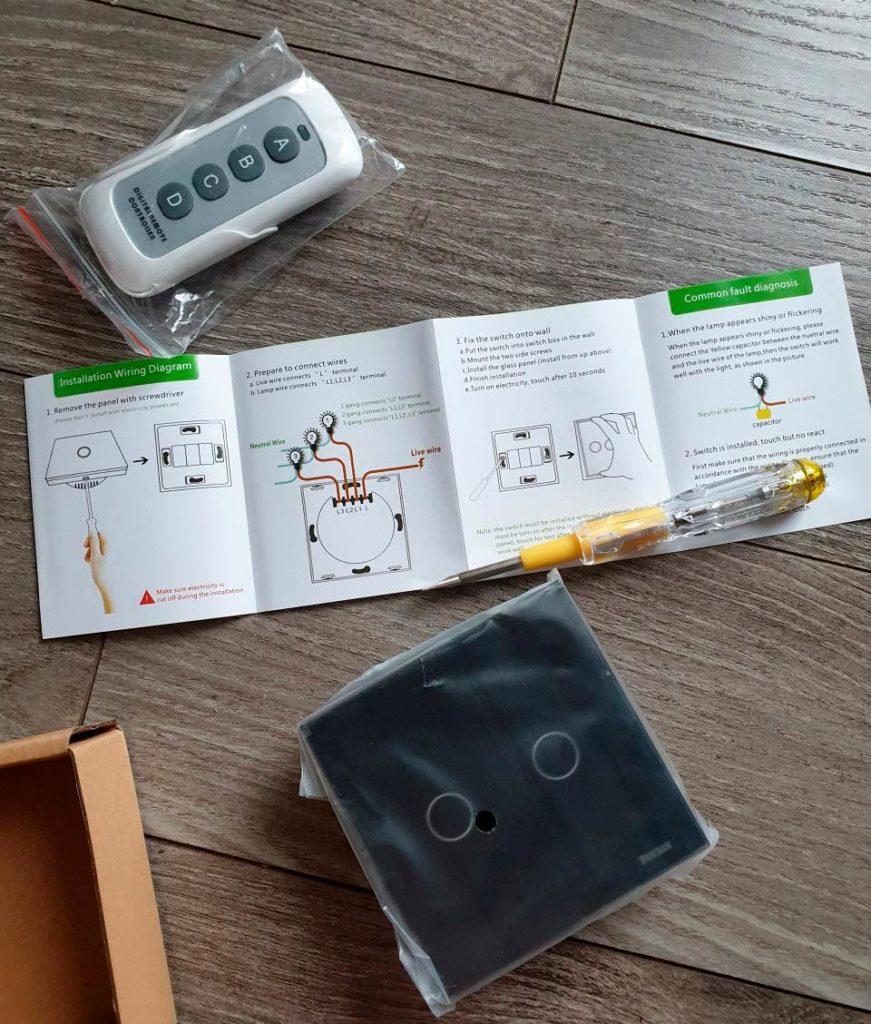 Инструкция выключателя на касание
