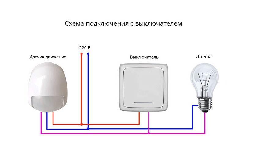 Выключатель с датчиком движения: как подключить датчики движения к лампочкам на освещение, настройка и схемы подключения с выключателем и без выключателя