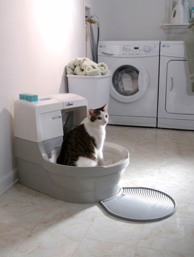 Автономный лоток для кошек от сети