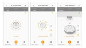 Приложение на смартфон для управления роботом пылесосом