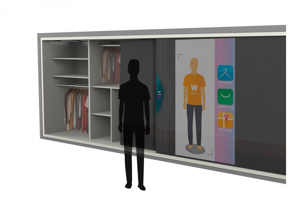 гардероб с умным зеркалом