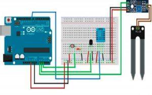 Схема автоматической теплицы на ARDUINO